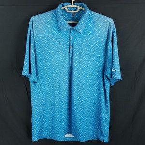 Nike Golf Blue Geometric Polo Shirt
